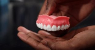 Drug-filled, 3-D printed dentures