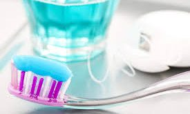mouth rinse and toothpaste containing